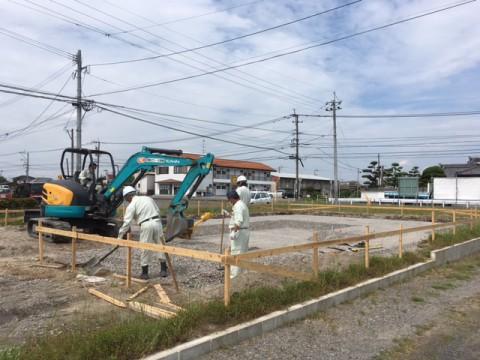 吉尾分譲地内新築工事状況